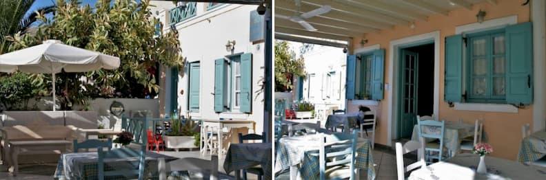 restaurant sea side beach hotel in santorini