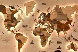 harta lumii cu led pentru perete