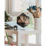 3D Cork Globe decoration black
