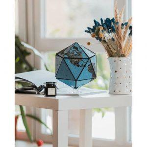 3D Cork Globe decoration blue