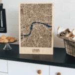 Wooden 3D London Map