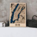 Wooden 3D New York Map