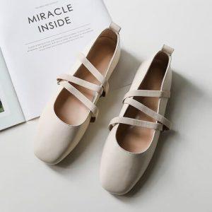 cristen square toe block heels pumps white