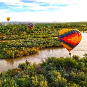 Hot Air Balloon Ride at Sunset in Albuquerque