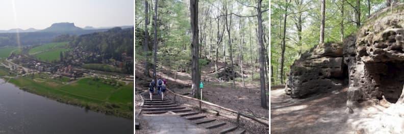 40-minute hike to Bastei Bridge