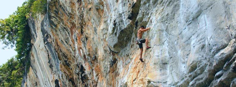 48 hours in koh yao noi rock climbing