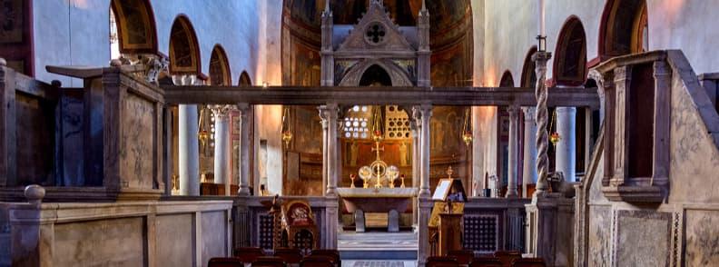 Basilica of Saint Mary in Cosmedin Basilica di Santa Maria in Cosmedin church in Rome