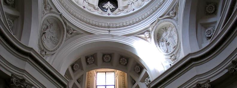 Church of Saint Charles at the Four Fountains San Carlo alle Quattro Fontane or San Carlino church in Rome
