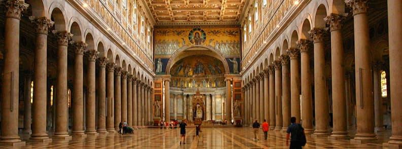 Papal Basilica of Saint Paul Outside the Walls Basilica Papale San Paolo fuori le Mura church in Rome