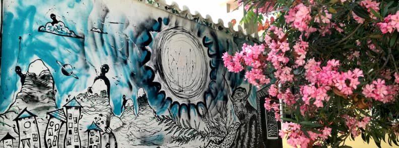 anafiotika street art plaka city of athens