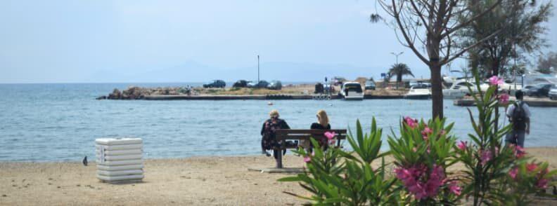 athens coastal tram seaside