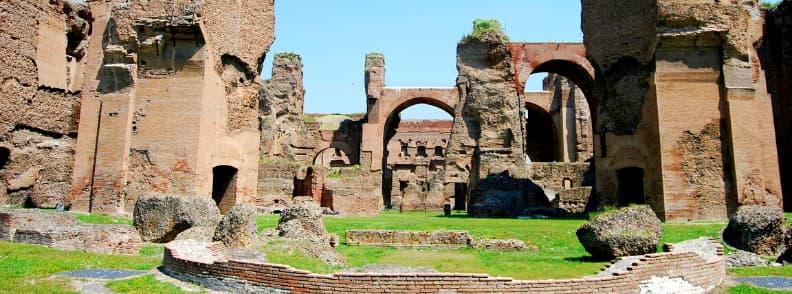 baths caracalla rome archaeological sites