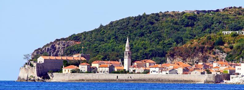 budva old town montenegro seaside