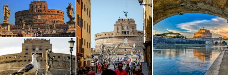 castel sant angelo walking from vatican city to trastevere