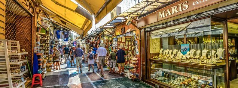 city of athens shopping monastiraki flea market