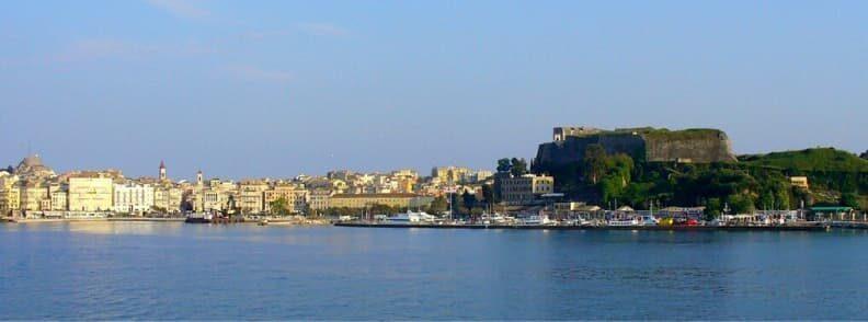 corfu town sailing the ionian sea