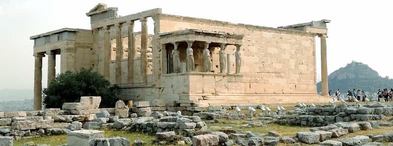 erechteion acropolis hill athens city