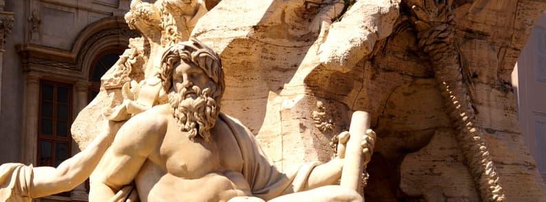 fontana dei quattro fiumi fountain in rome