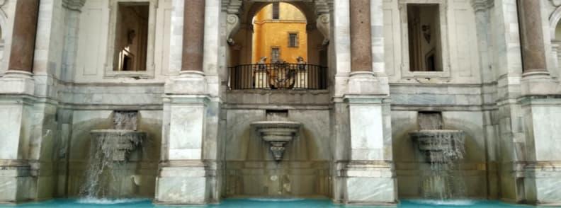 fontana del acqua paola fountain in rome