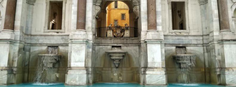 fontana del acqua paola il fontanone trastevere