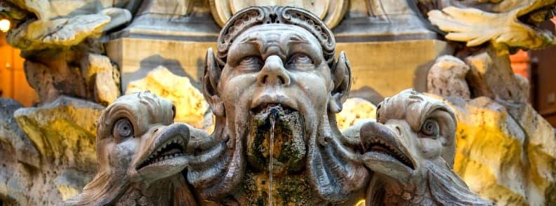 fontana del pantheon fountain in rome