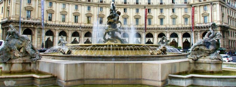 fontana delle naiadi fountain in rome