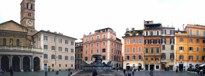 fontana di santa maria in trastevere fountain in rome