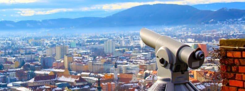 graz view from schlossberg