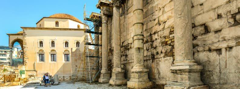 hadrian library monastiraki things to do