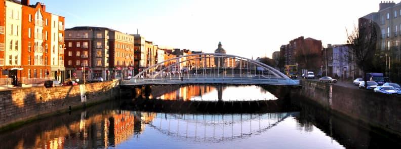 hapenny bridge liffey river dublin ireland