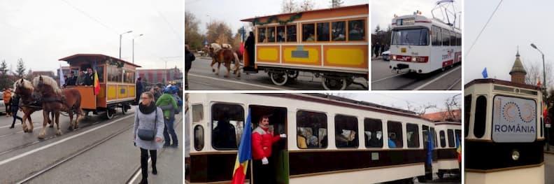historic trams parade timisoara