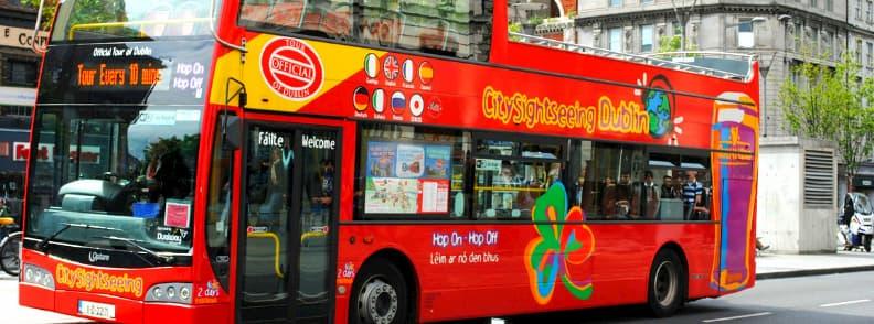 hop on hop off bus dublin ireland city sightseeing