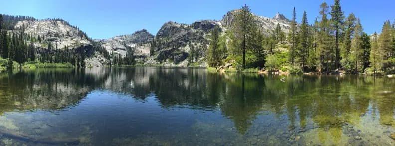lake tahoe in summer vacation