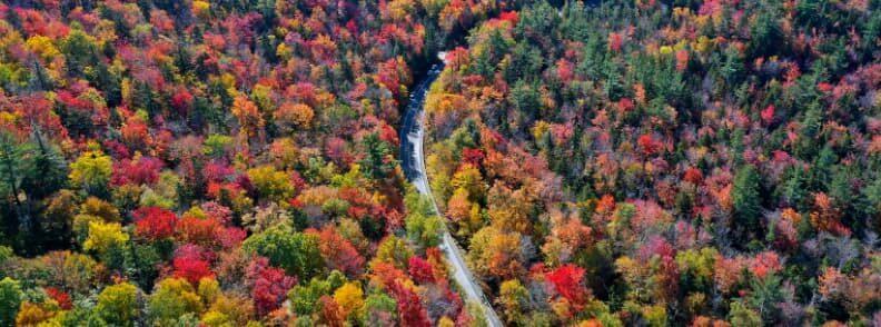 lincoln autumn scenic drive in new hampshire