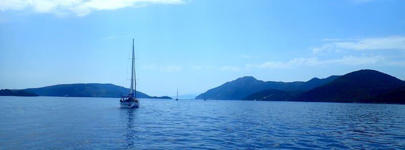 meganissi sailing the ionian sea