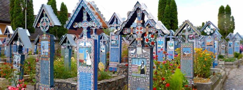 see the merry cemetery or cimitirul vesel in sapanta maramures when you visit romania