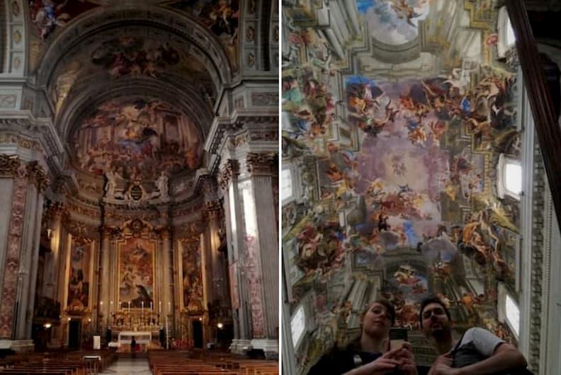 mirela the travel bunny chiesa di sant ignazio di loyola rome