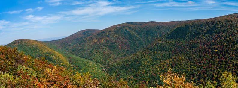 mount greylock fall foliage in massachusetts