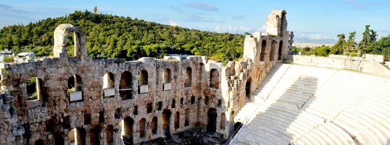 odeon of herodeus atticus acropolis hill athens greece