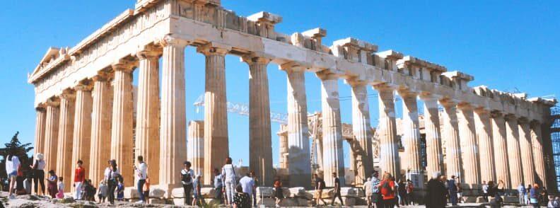 parthenon acropolis hill city of athens