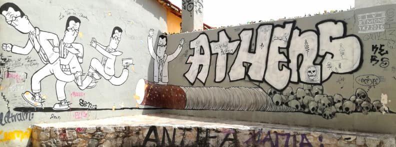 plaka anafiotika graffiti mural city of athens