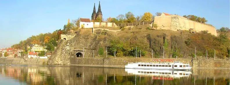 prague visehrad castle vltava