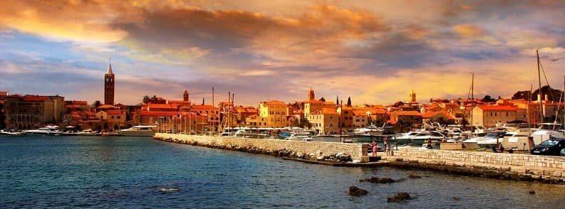 rab island sailing in croatia