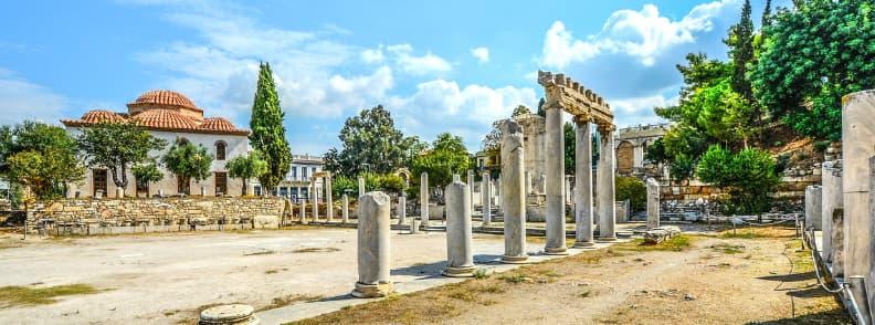 roman agora athens archaeological site
