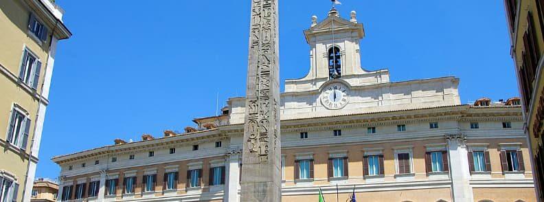 rome piazza di montecitorio palazzo
