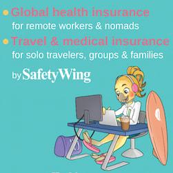 asigurare de călătorie și sănătate SafetyWing