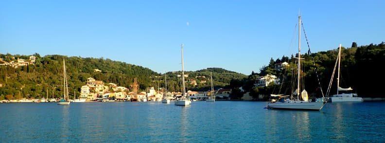 sailing the ionian lakka anchorage paxos