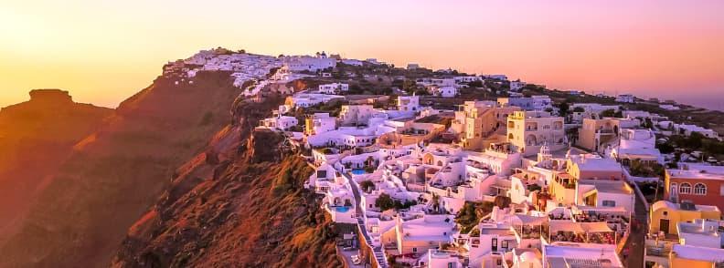 santorini travel costs cyclades islands