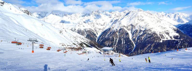 skiing in austria solden ski resort in the austrian alps