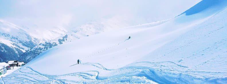 skiing in austria st anton ski resort in the austrian alps